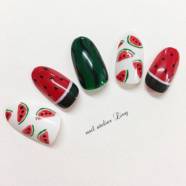 图集 | 小清新西瓜美甲