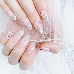 圆形银色渐变亮片新娘ins美图分享,想学美甲咨询微信mjbyxs6哦~美甲图片