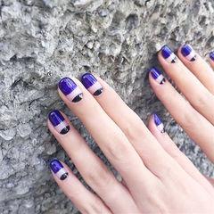 圆形紫色法式简约想学习这么好看的美甲吗?可以咨询微信mjbyxs3哦~美甲图片