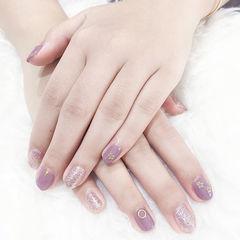 圆形紫色银色金属饰品想学习这么好看的美甲吗?可以咨询微信mjbyxs6哦~美甲图片