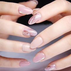圆形粉色裸色晕染想学习这么好看的美甲吗?可以咨询微信mjbyxs6哦~美甲图片