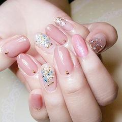 圆形粉色干花想学习这么好看的美甲吗?可以咨询微信mjbyxs6哦~美甲图片