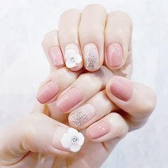 方圆形粉色银色渐变雕花想学习这么好看的美甲吗?可以咨询微信mjbyxs6哦~美甲图片