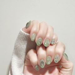 圆形绿色水滴全国连锁日式学校学美甲加微信:mjbyxs15美甲图片