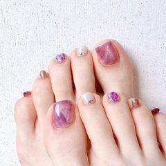晕染香芋紫色美甲图片