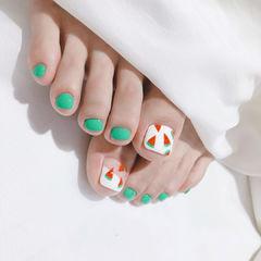 夏天绿色西瓜美甲图片