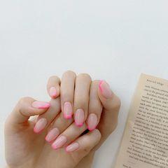 粉色法式美甲图片
