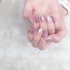 香芋紫色美甲图片