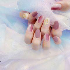 砂糖粉美甲图片