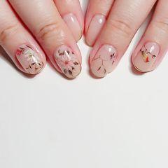 手绘花朵美甲图片
