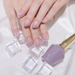 紫色渐变香芋紫色美甲图片