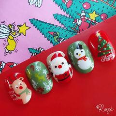 圣诞可爱美甲图片