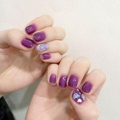 紫色美甲图片