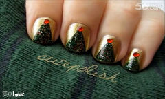 【cutepolish】之圣诞树- 高清美甲DIY教程美甲图片