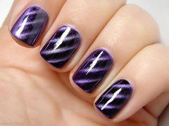 其他方圆形紫色超美猫眼美甲美甲图片