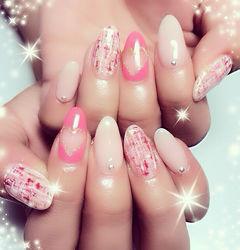 粉色爱心日式可爱红色粉嫩的小爱心 多点关心多点爱美甲图片