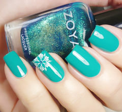 绿色方形手绘简约土耳其蓝,手绘线条花美甲美甲图片