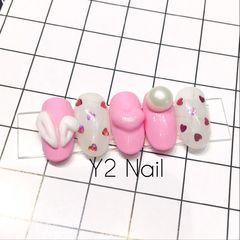 圆形日式可爱粉色白色立体雕花美图达人伊伊子兔兔 可爱兔子美甲图片