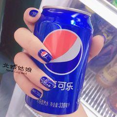 方圆形红色蓝色可乐夏天可乐美甲美甲图片