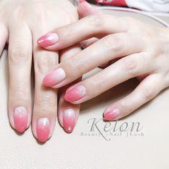 日式渐变圆形粉色简约上班族新娘美甲图片