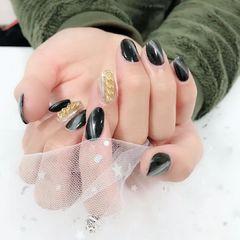 黑色猫眼重金属镜面粉光疗胶下午换的指甲,男生美甲图片