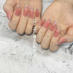 尖形夏天法式日式美甲图片