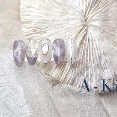 裸色尖形短指甲新娘晕染渐变贝壳片水彩美甲图片