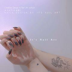 异形手绘☞暗黑系 Creative Design & Nail Art school ネイルアートを描く┃ 絵画ネイルアート N A I L S   D E S I G N   B Y    I T' S   N A I L   A R T 美甲图片