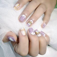方圆形磨砂短指甲手绘纯手绘磨砂款,太美了,美甲图片