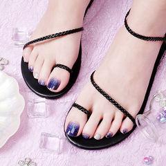 脚部紫色银色渐变跳色想学习这么好看的美甲吗?可以咨询微信mjbyxs6哦~美甲图片