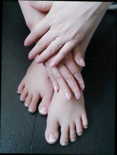 其他简约方圆形裸色优雅法式新娘甲美甲图片
