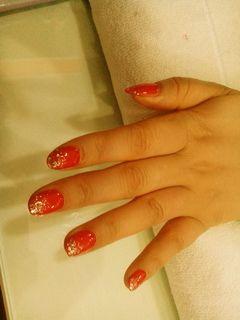 新娘渐变手绘红色粉色紫色金色蓝色白色黑色最美的,指尖把握美好最美的,指尖把握美好美甲图片