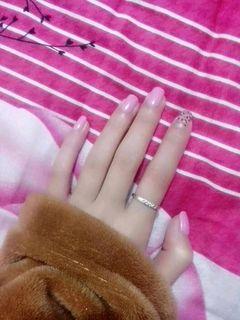方圆形紫色粉色裸色简约手绘镂空豹纹。。。美甲图片