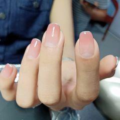 裸色方圆形渐变简约上班族这么漂亮的指甲美甲图片